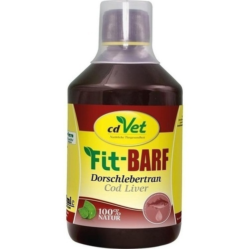 Fit BARF Dorschlebertran vet, 500 ML, cd Vet Naturprodukte GmbH