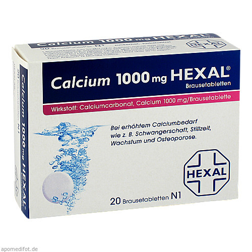 CALCIUM 1000 HEXAL, 20 ST, HEXAL AG