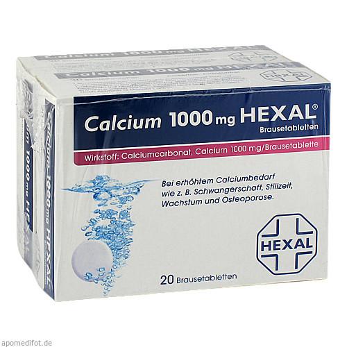 CALCIUM 1000 HEXAL, 40 ST, HEXAL AG