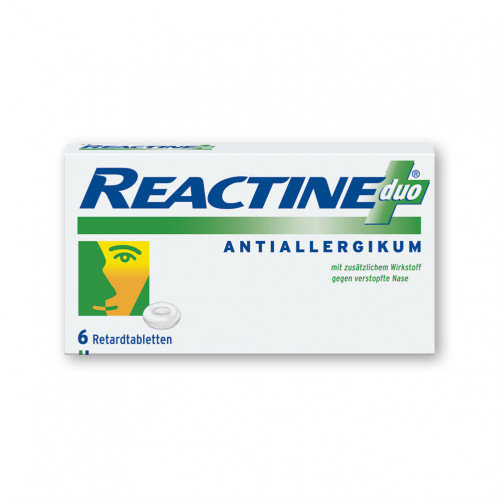Reactine duo, 6 ST, Johnson & Johnson GmbH