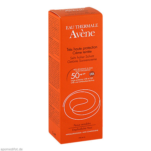 AVENE SunSitive Sonnencreme SPF 50+ getönt, 50 ML, PIERRE FABRE DERMO KOSMETIK GmbH GB - Avene