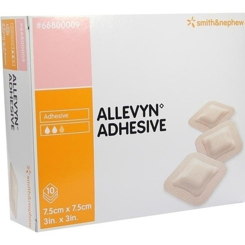 ALLEVYN Adhesive 7.5x7.5cm haftende Wundauflage, 10 ST, Aca Müller/Adag Pharma AG
