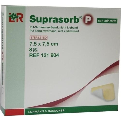 Suprasorb P PU-Schaum nicht kl. 7.5x7.5cm, 8 ST, Lohmann & Rauscher GmbH & Co. KG