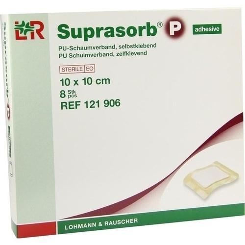 Suprasorb P PU-Schaum seblstkl. 10x10cm, 8 ST, Lohmann & Rauscher GmbH & Co. KG