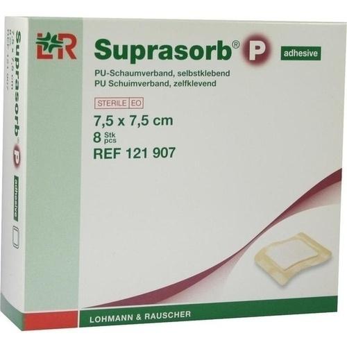 Suprasorb P PU-Schaum seblstkl. 7.5x7.5cm, 8 ST, Lohmann & Rauscher GmbH & Co. KG