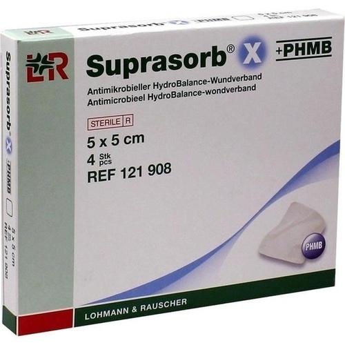 Suprasorb X + PHMB HydroBalance-Wundverband 5x5cm, 4 ST, Lohmann & Rauscher GmbH & Co. KG