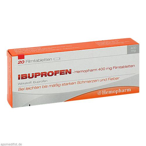 ibuprofen-Hemopharm 400mg Filmtabletten, 20 ST, Hemopharm GmbH