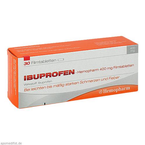 ibuprofen-Hemopharm 400mg Filmtabletten, 30 ST, Hemopharm GmbH