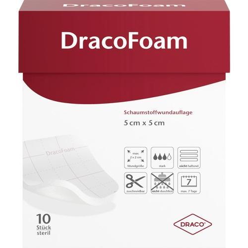 DracoFoam Schaumstoff Wundauflage 5x5cm, 10 ST, Dr. Ausbüttel & Co. GmbH