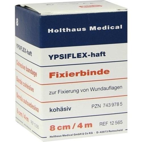 YPSIFLEX-haft 8cmX4m Fixierbinde, 1 ST, Holthaus Medical GmbH & Co. KG