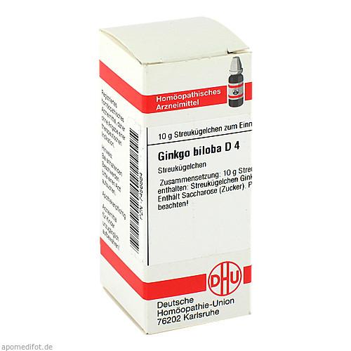 GINKGO BILOBA D 4, 10 G, Dhu-Arzneimittel GmbH & Co. KG