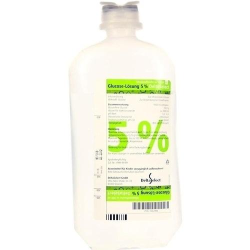 GLUCOSE 5% DELTAMEDICA PL, 1X500 ML, DELTAMEDICA GmbH
