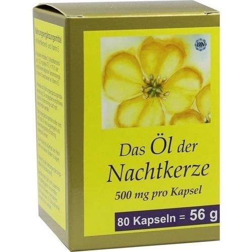 NACHTKERZE OEL KAPS 500MG, 80 ST, Fbk-Pharma GmbH