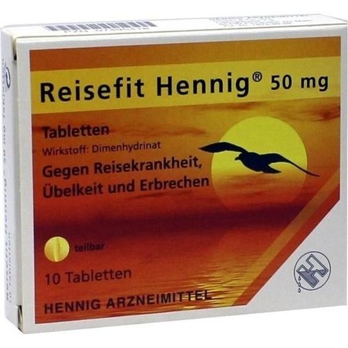 Reisefit Hennig Tabletten, 10 ST, Hennig Arzneimittel GmbH & Co. KG