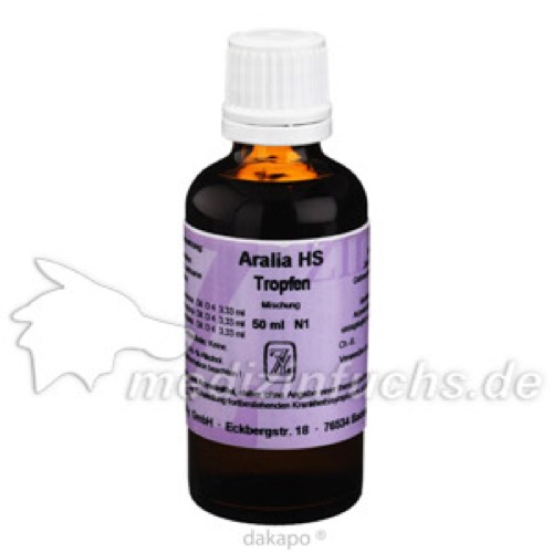 ARALIA HS TROPFEN, 50 ML, Fritz Zilly GmbH