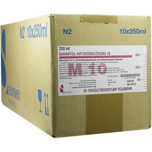 MANNITOL INFUSIONSLOE 10, 10X250 ML, Serumwerk Bernburg AG