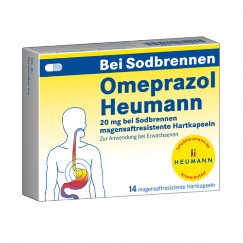 Omeprazol Heumann 20mg b Sodbr.magensaftr.Hartk., 14 ST, Heumann Pharma GmbH & Co. Generica KG