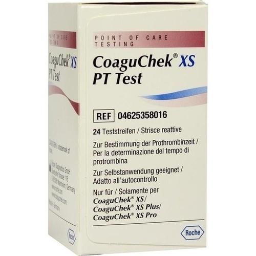 COAGUCHEK XS PT Test, 24 ST, Aca Müller/Adag Pharma AG