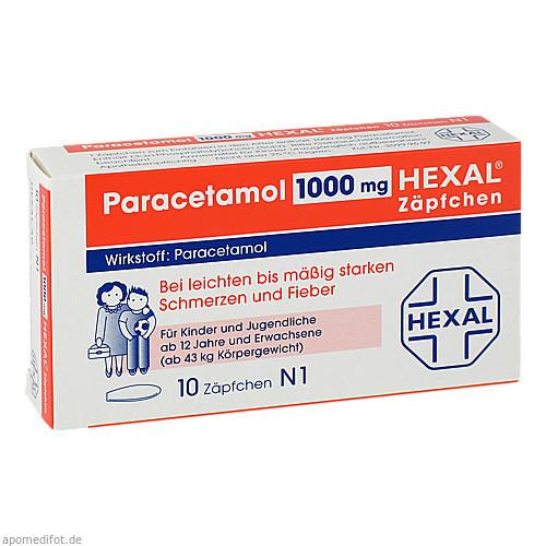 PARACETAMOL 1.000 mg HEXAL Zäpfchen, 10 ST, Hexal AG