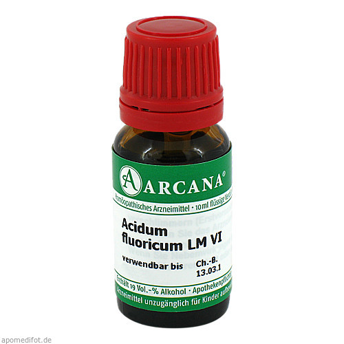 ACIDUM FLUORICUM LM 6 Dilution, 10 ML, ARCANA Dr. Sewerin GmbH & Co.KG