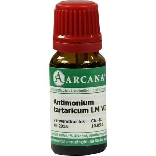 ANTIMONIUM TARTAR LM 6, 10 ML, Arcana Arzneimittel-Herstellung Dr. Sewerin GmbH & Co. KG