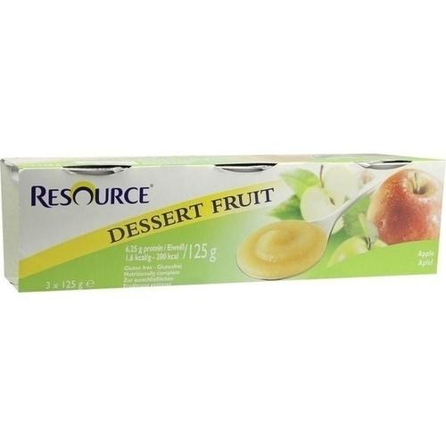 Resource Dessert Fruit Apfel, 3X125 G, Ghd Direkt Ii GmbH Vertriebslinie Nestle
