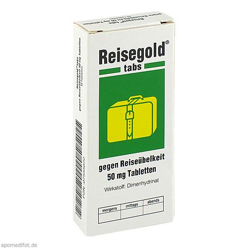 REISEGOLD TABS GEGEN REISEUEBELKEIT, 10 ST, Cheplapharm Arzneimittel GmbH