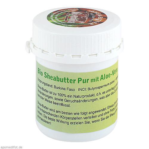 Sheabutter Bio Pur Aloe-Vera unraffiniert, 100 G, Abis-Pharma