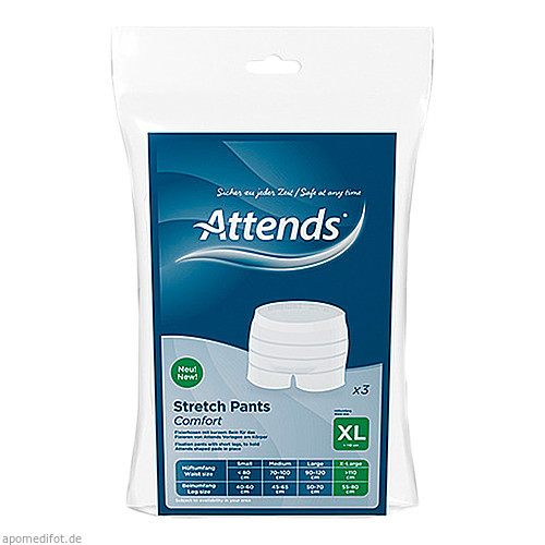 Attends Stretch Pants Comfort XL, 3 ST, Attends GmbH
