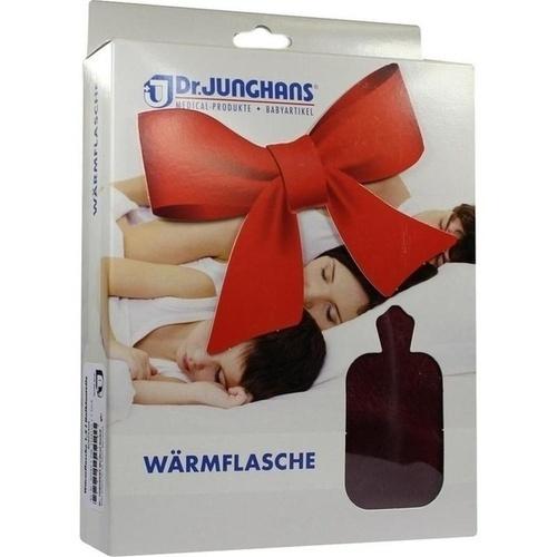 Wärmflasche mit Flauschbezug bordeaux, 1.5 L, Dr. Junghans Medical GmbH
