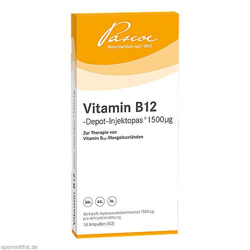 VITAMIN B12 DEPOT INJEKTOPAS 1500UG, 10X1 ML, Pascoe Pharmazeutische Präparate GmbH