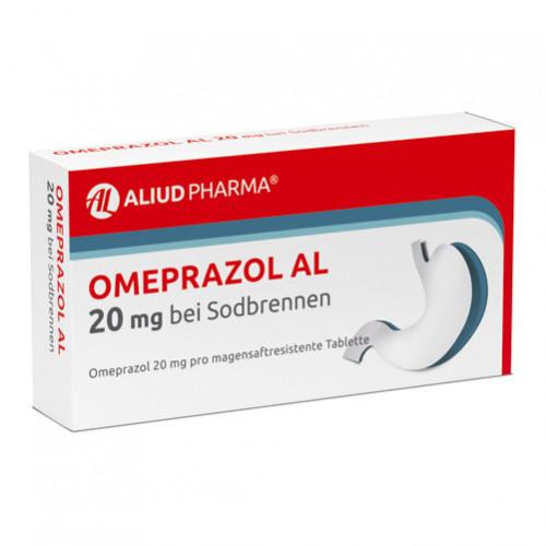 Omeprazol AL 20MG bei Sodbrennen, 14 ST, Aliud Pharma GmbH