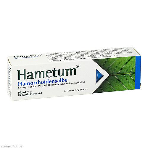 HAMETUM Haemorrhoiden Salbe, 50 G, Dr.Willmar Schwabe GmbH & Co. KG
