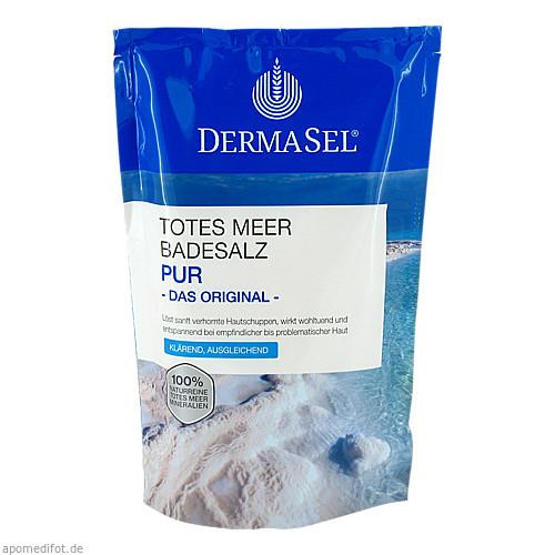 DermaSel Totes Meer Badesalz Pur, 500 G, Fette Pharma AG