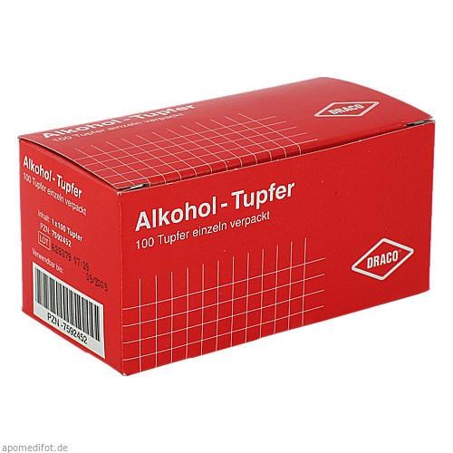 Alkoholtupfer Draco einzeln verpackt, 100 ST, Dr. Ausbüttel & Co. GmbH