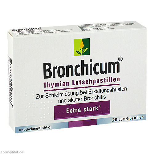 Bronchicum Thymian Lutschpastillen, 20 ST, MCM Klosterfrau Vertriebsgesellschaft mbH