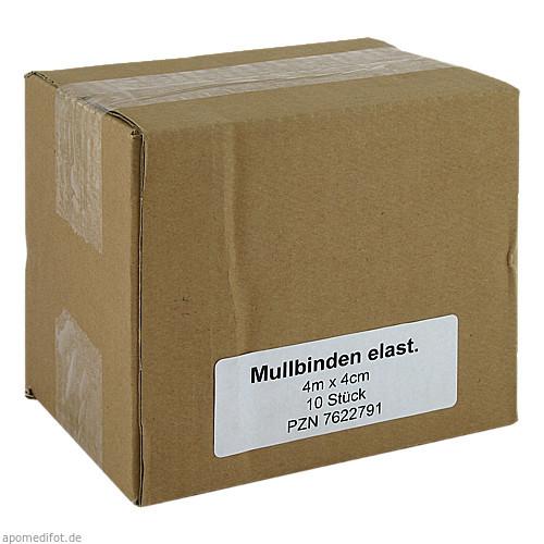 Mullbinden Elast 4mx4cm, 10 ST, Medi Kauf Braun GmbH & Co. KG