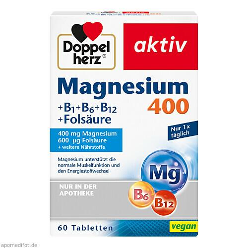 Doppelherz Magnesium 400mg Tabl., 60 ST, Queisser Pharma GmbH & Co. KG
