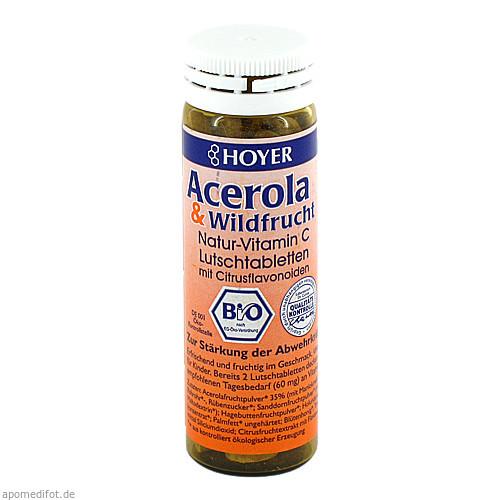 Acerola & Wildfrucht Vitamin C Lutschtabletten, 60 ST, Kyberg Pharma Vertriebs GmbH