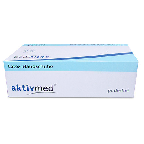 Latexhandschuhe Einmal Puderfrei M, 100 ST, Aktivmed GmbH