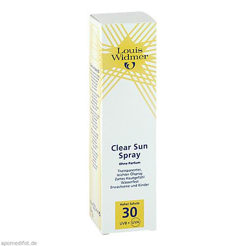 Widmer Clear Sun Spray 30 nicht parfümiert, 125 ML, Louis Widmer GmbH
