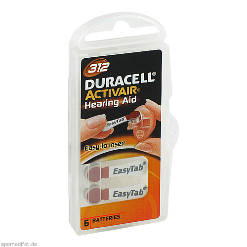Batterie für Hörgeräte Duracell 312, 6 ST, Vielstedter Elektronik