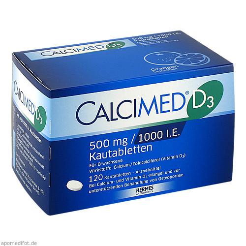 Calcimed D3 500mg/1000 I.E., 120 ST, Hermes Arzneimittel GmbH