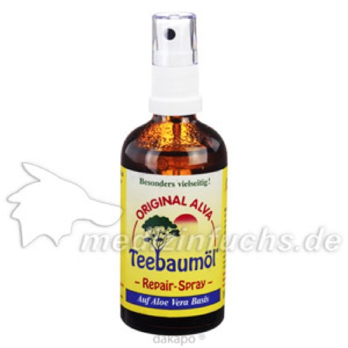 Teebaumöl Repair-Spray alva, 100 ML, alva naturkosmetik GmbH & Co. KG