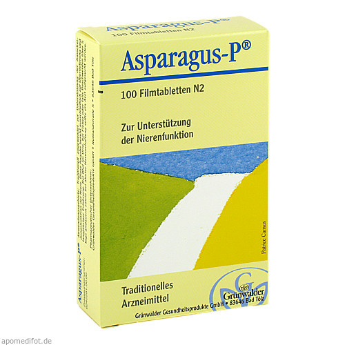 ASPARAGUS P, 100 ST, Grünwalder Gesundheitsprodukte GmbH