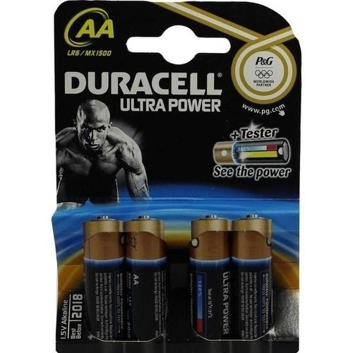 Duracell Ultra Power-AA(MN1500/LR6) K4 m Powerch., 4 ST, Duracell Germany GmbH