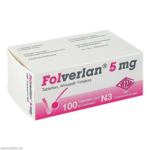 FOLVERLAN 5MG, 100 ST, Verla-Pharm Arzneimittel GmbH & Co. KG