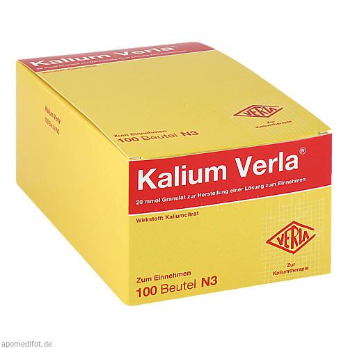 Kalium Verla Granulat, 100 ST, Verla-Pharm Arzneimittel GmbH & Co. KG