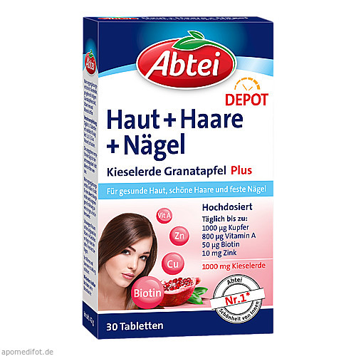Abtei Kieselerde PL Granat Depot, 30 ST, Omega Pharma Deutschland GmbH