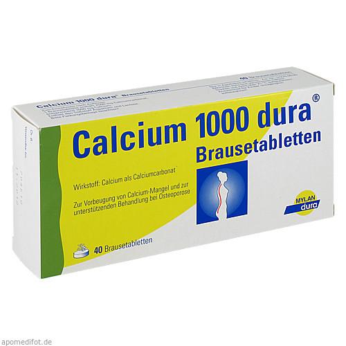 Calcium 1000 Dura Brausetabletten, 40 ST, Mylan dura GmbH